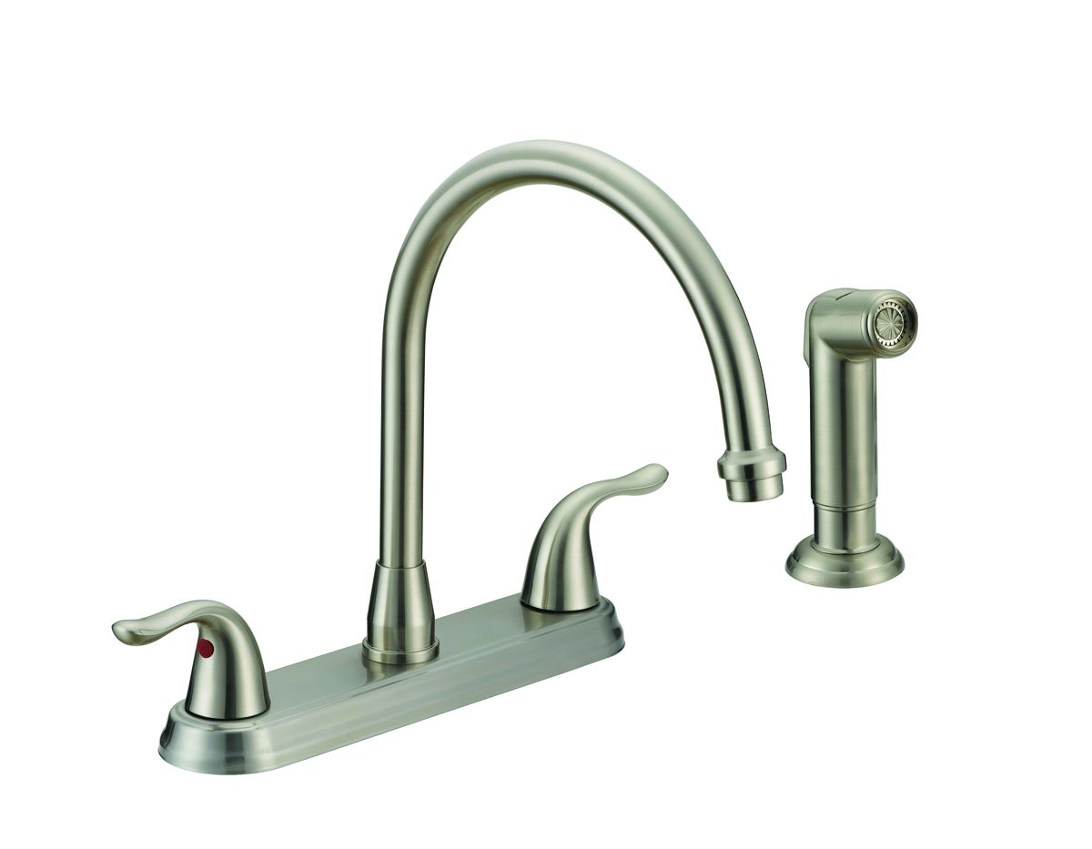 Matco Bl 260ss 2 Handle S S Kitchen Faucet W Spray Metal Lever