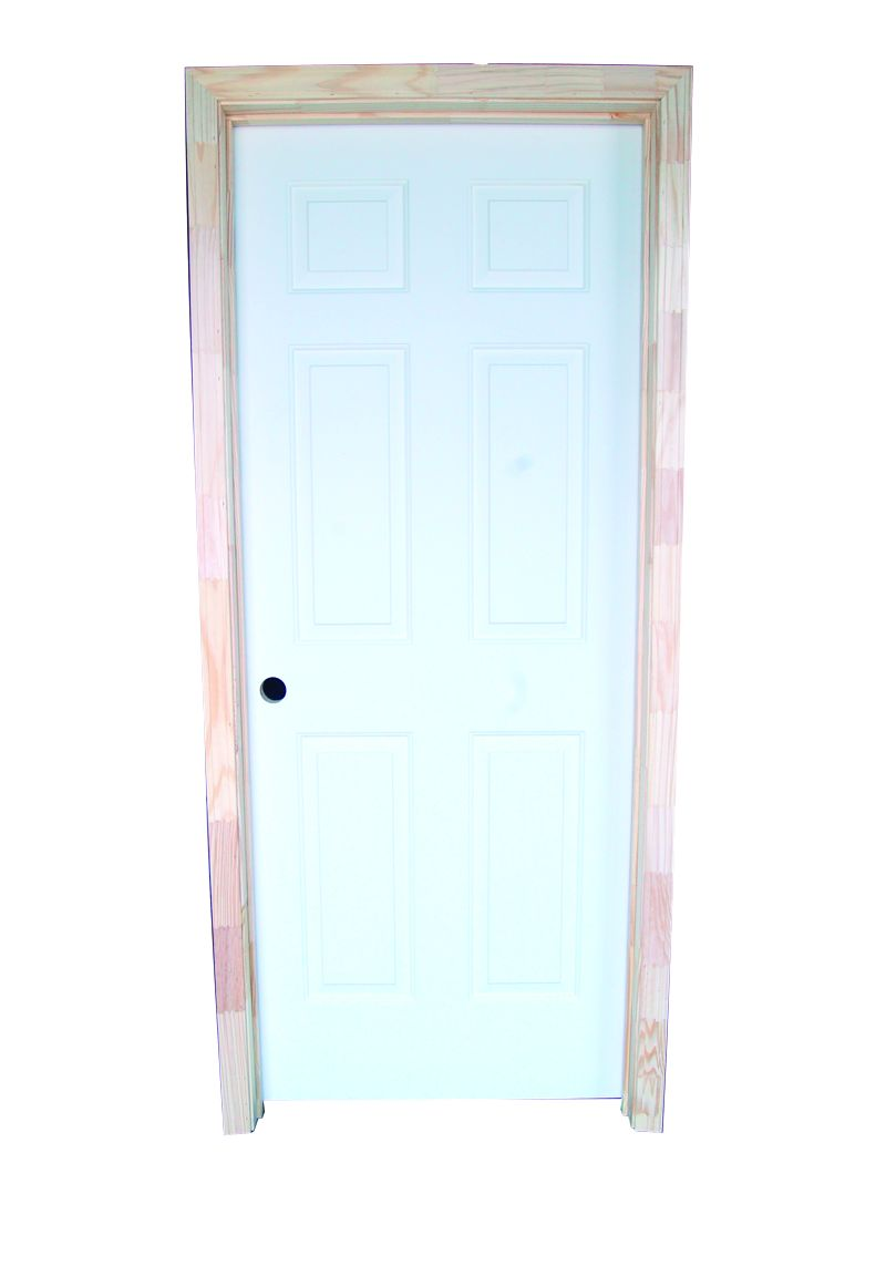 Ledco 18 6 Panel Pre Hung Door Rh Bostonian 356 Casing Prime