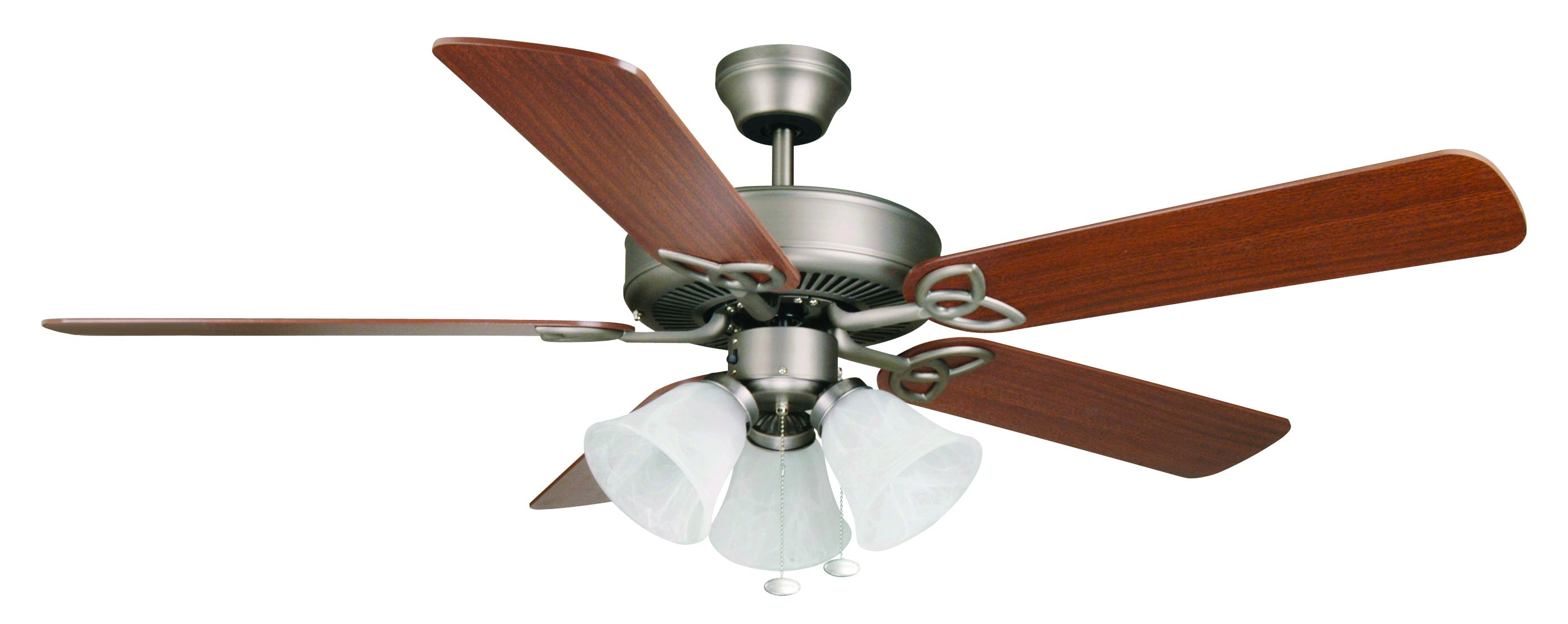 Lighting ceiling fans ez install murray supply company 3300070 52 ceiling fan ez install bld52an5c3 52 5 blade fan ant nickel walabaster glass 3 light aloadofball Choice Image