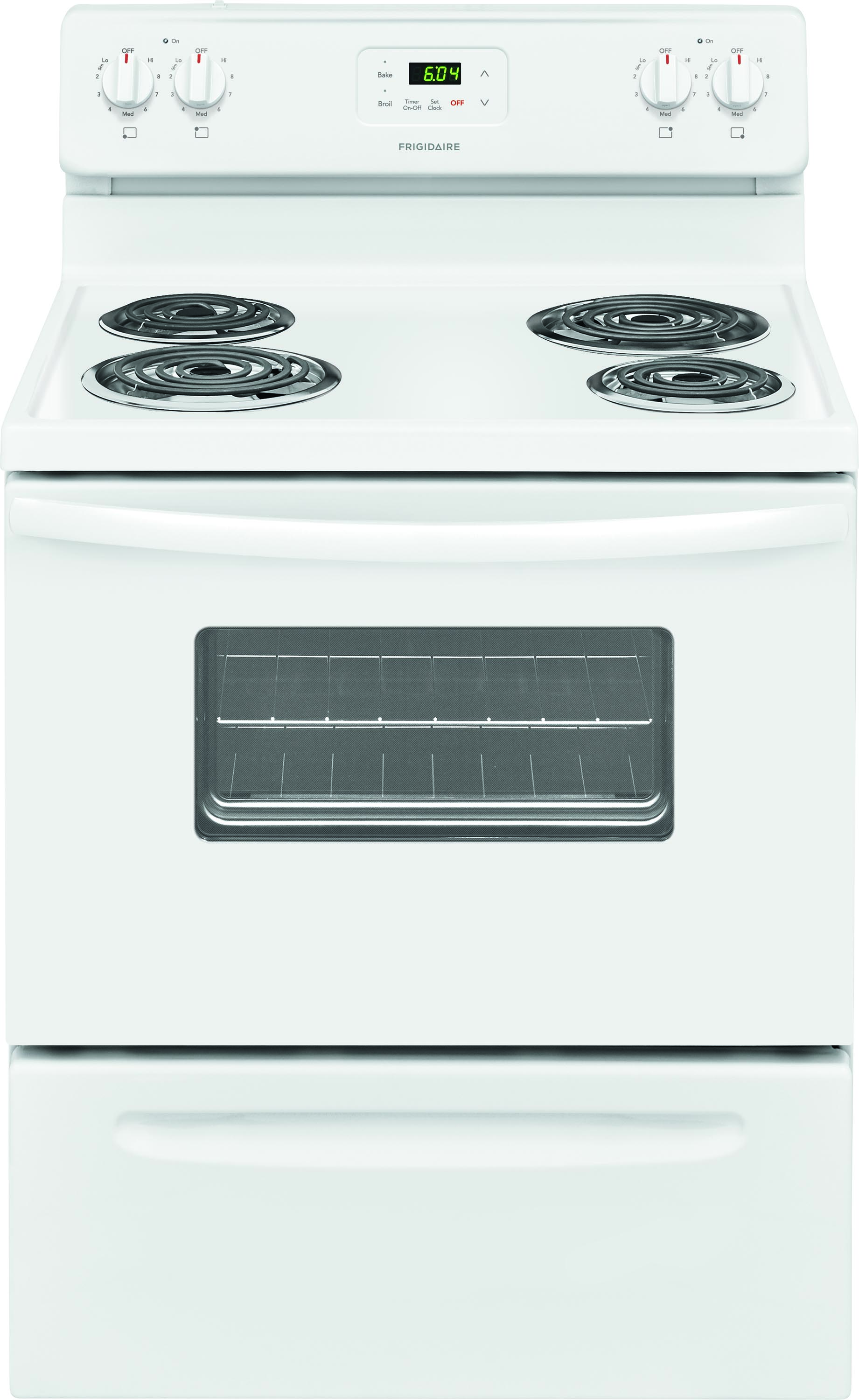 <D> FRIGIDAIRE FFEF3012TW 30 4 ELEMENT ELECTRIC F/S RANGE MANUAL CLEAN WHITE